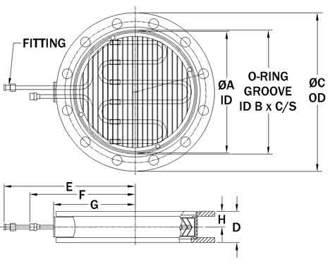 Flange Type Multi-coolant Baffle Drawing